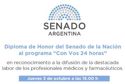 Diploma de Honor al Dr. Pedro Forcada