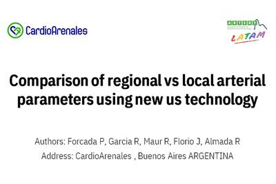Comparación de parámetros arteriales regionales y locales utilizando nueva tecnología de EE. UU.